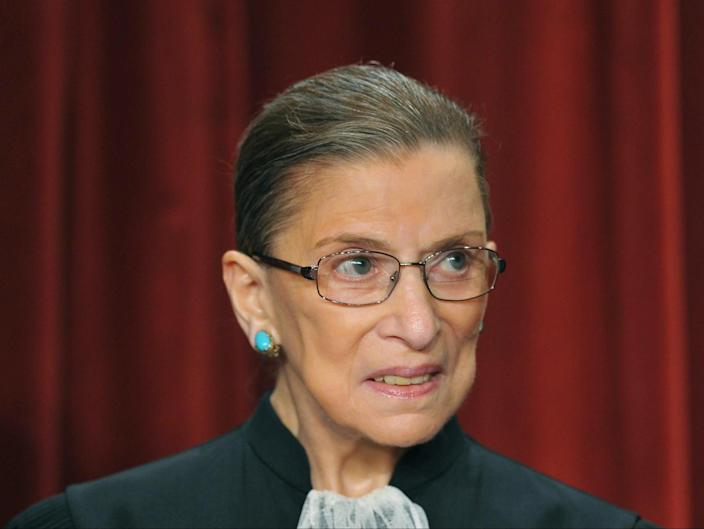 Ruth Bader Ginsburg died Friday from complications from cancer. She was 87. (AFP/Getty)