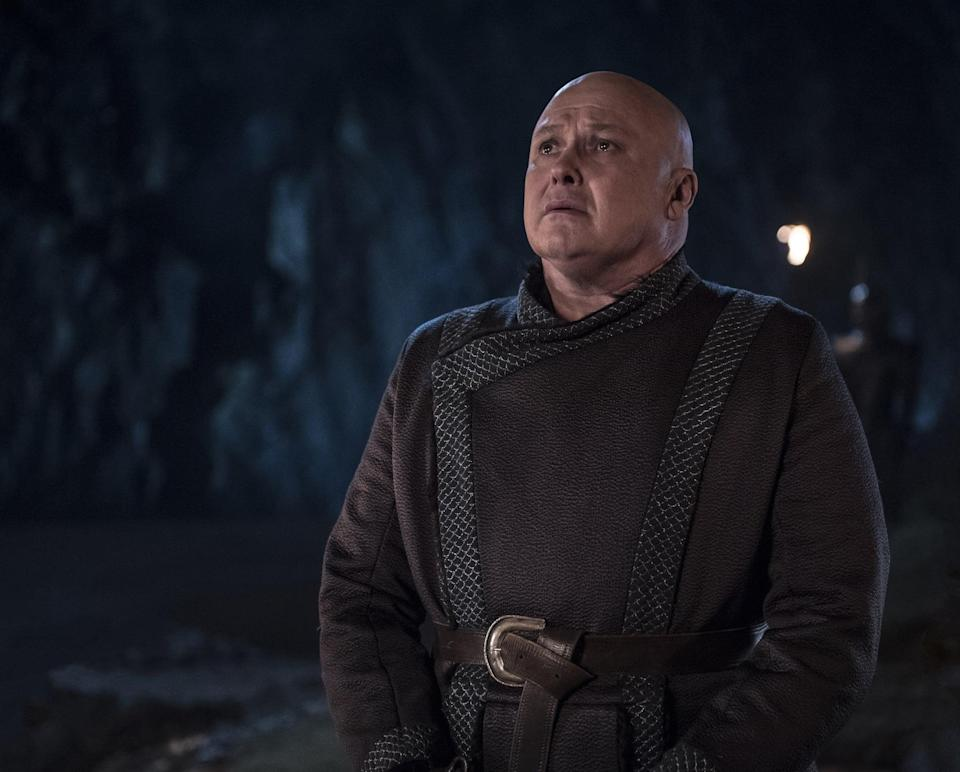 """<p>In the end, all of the <a href=""""https://www.popsugar.com/entertainment/Did-Varys-Try-Poison-Daenerys-Game-Thrones-46147482"""" rel=""""nofollow noopener"""" target=""""_blank"""" data-ylk=""""slk:Spider's whispers finally catch up with him"""" class=""""link rapid-noclick-resp"""">Spider's whispers finally catch up with him</a>. Although it's clear that Varys is 100 percent correct in saying Jon Snow should probably take a stab at ruling the seven kingdoms over Dany (see <a href=""""https://www.popsugar.com/entertainment/Simpsons-Game-Thrones-Season-8-Prediction-46152371"""" rel=""""nofollow noopener"""" target=""""_blank"""" data-ylk=""""slk:the most recent episode for proof"""" class=""""link rapid-noclick-resp"""">the most recent episode for proof</a>), he <em>does</em> commit treason against a short-tempered woman with a dragon. That being said, why would a character as smart as Varys ever do such a thing? Like Tyrion, he's always been an integral part of maintaining the balance of power in Westeros, so we find it incredibly hard to believe that he decides to just strut up to Jon and make his intentions clear (risking being executed for treason in the process, which he had to have known was a consequence). </p> <p>For a character who's stirred up so much sh*t over the years, we don't buy it. He would've used his words to work behind the scenes like he always has, influencing others to do the dirty work for him. It's a shame that a complex and interesting character like Varys seems to lose all sense, gets ratted out by Tyrion, and is promptly killed by Dany's dragon all within the first 15 minutes of the penultimate episode. What a waste.</p>"""
