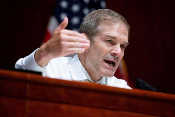 PHOTO: Republican Representative from Ohio, Jim Jordan, speaks during the U.S. House Judiciary Committee hearing on 'Policing Practices and Law Enforcement Accountability' on Capitol Hill, June 10, 2020. (Michael Reynolds/Pool/Reuters)