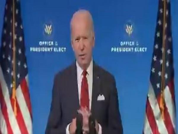 US President-elect Joe Biden speaking on Friday (local time).