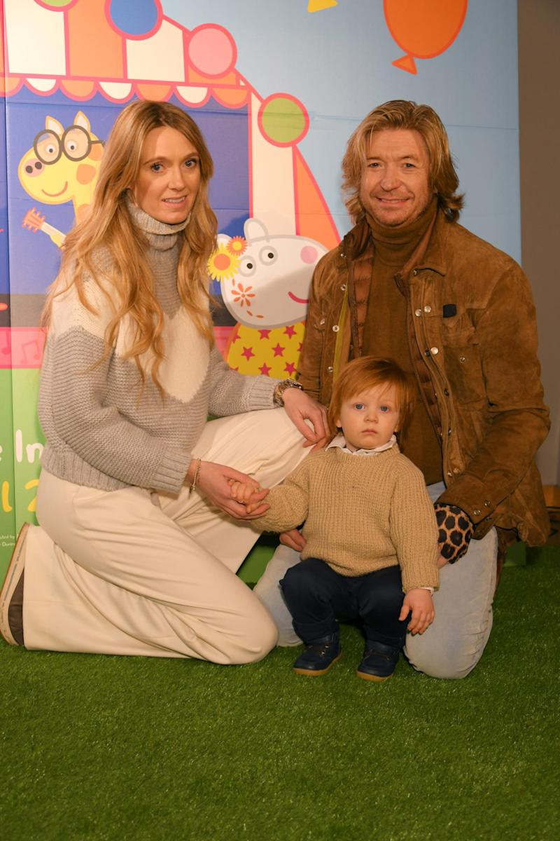 Kelly Simpkin, Nicky Clarke with their son Nico Clarke (Dave Benett/Getty Images)