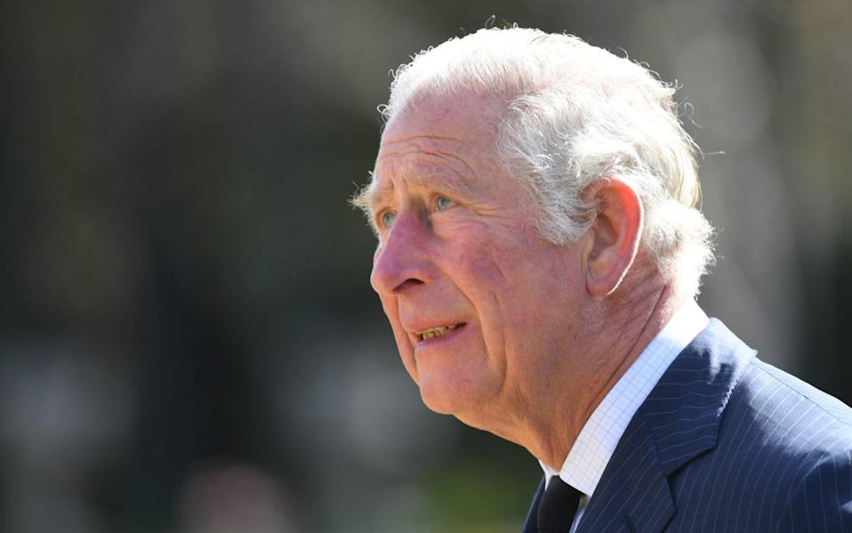 The Prince of Wales looks teary as he visits the gardens of Marlborough House - Jeremy Selwyn