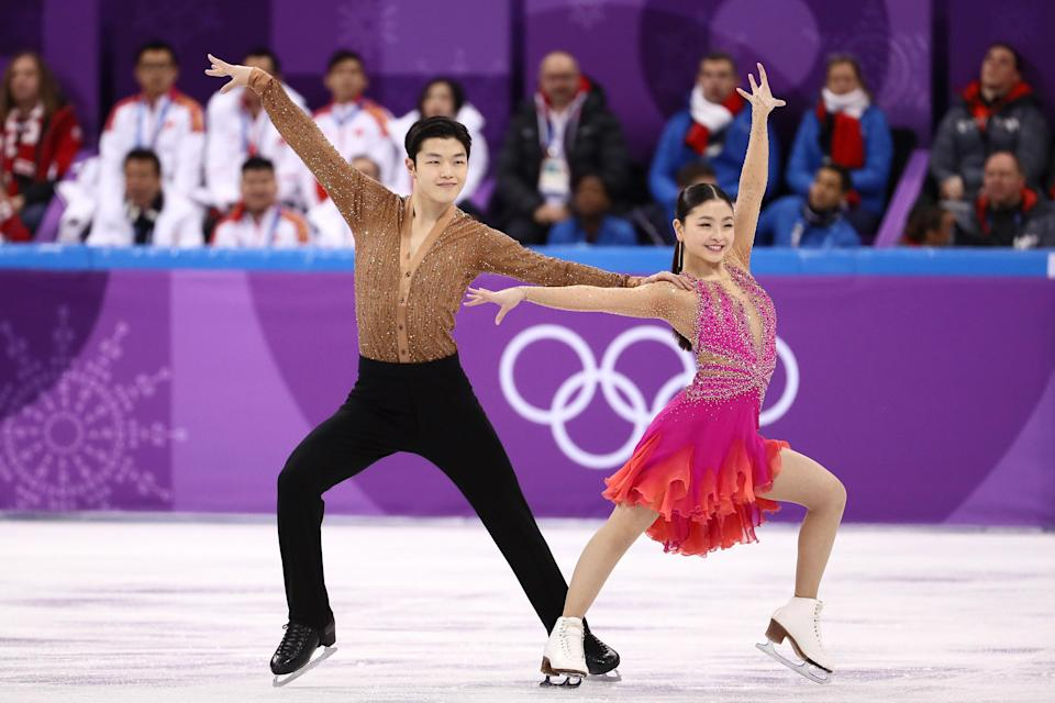 Some on social media were uneasy with the close performance from U.S. Olympic figure skaters Alex and Maia Shibutani, a brother-sister team. (Photo: Getty Images)