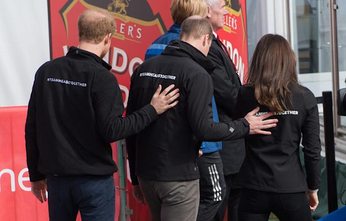 harry, william, kate heads together