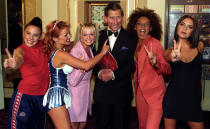 <p>The Prince of Wales met pop royalty at the Royal Gala in Manchester the Spice Girls at the Royal Gala celebrating the Princes Trust 21st Anniversary in Manchester. Not ones to follow protocol, the bandmates dressed in their signature looks for the meeting. <em>[Photo: PA]</em> </p>