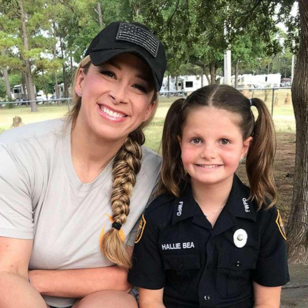 PHOTO: Hallie Bea Barnard, 11, seen with her friend, Fort Worth Police Officer Brandi Kamper, was born with Diamond-Blackfan anemia (DBA). (Hallie's Heroes/Facebook)