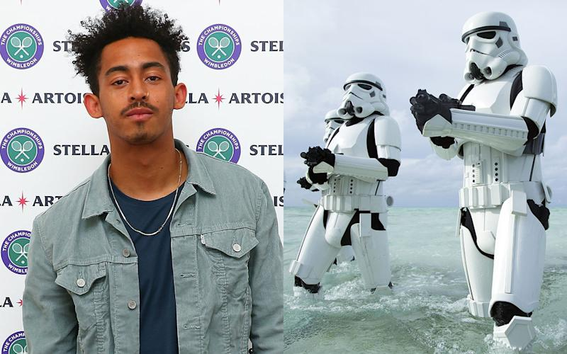 Get down with the Lightsabers... Jordan Stephens has a secret cameo in Rogue One. Credit: Getty Images/Disney