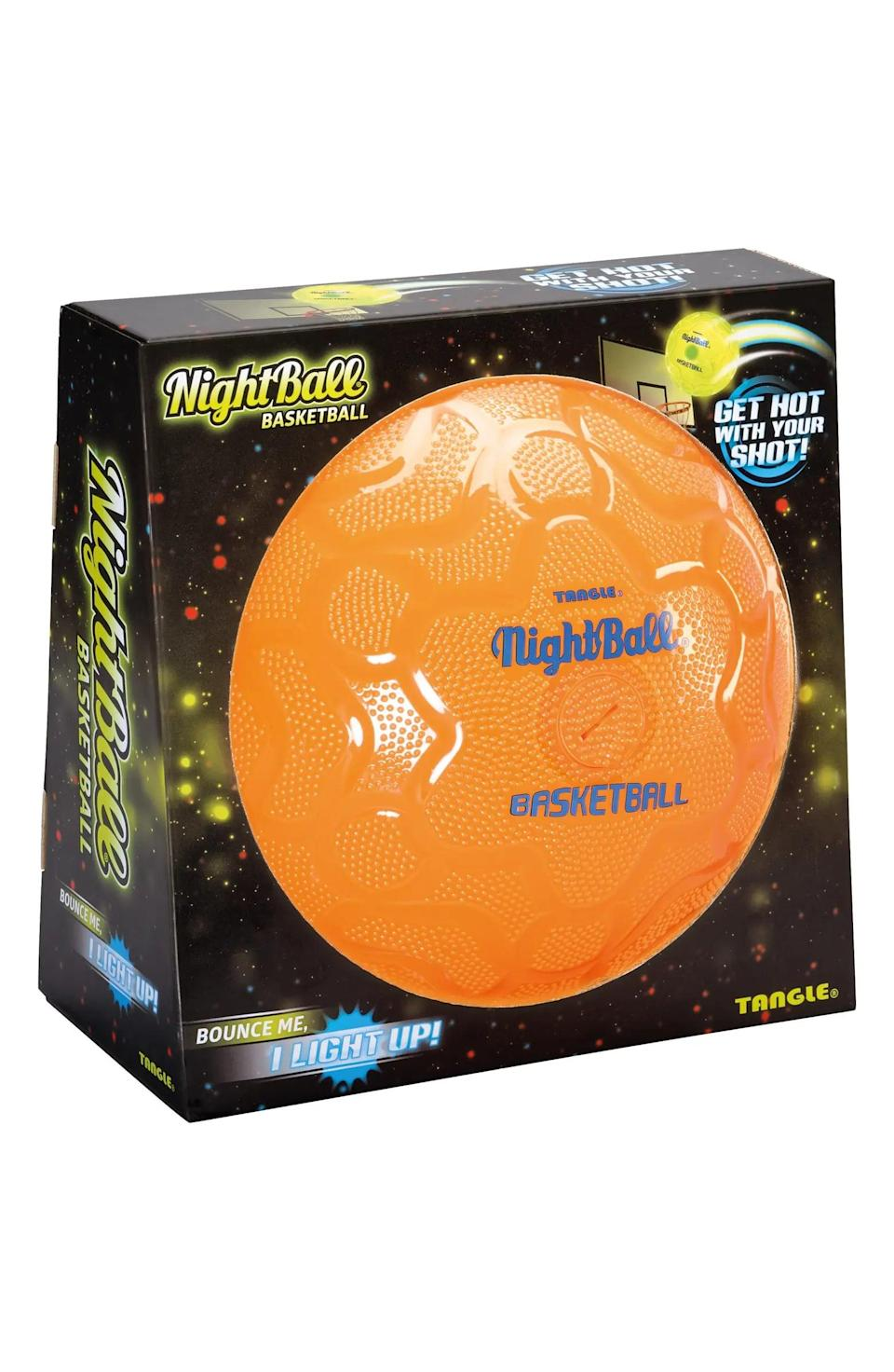 <p>The cool <span>NightBall Basketball</span> ($25) lights up when you use it.</p>