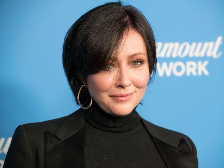 Shannen Doherty attends Paramount Network Launch Party in 2018 in Los Angeles.