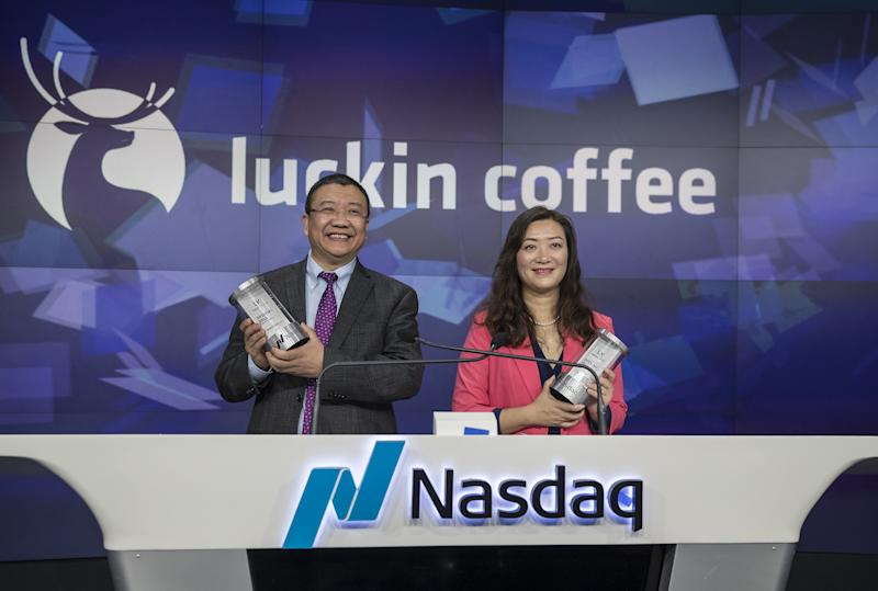 Luckin Coffee Debuts Initial Public Offering At Nasdaq MarketSite