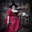 """<p>This simple witch costume looks like something right out of the famed Salem, Massachusetts. All you need is an old-fashioned red dress and a hat and broom for effect. </p><p><a class=""""link rapid-noclick-resp"""" href=""""https://www.amazon.com/Womens-Cosplay-Vintage-Medieval-Renaissance/dp/B07RQYSTCP?tag=syn-yahoo-20&ascsubtag=%5Bartid%7C10072.g.33534666%5Bsrc%7Cyahoo-us"""" rel=""""nofollow noopener"""" target=""""_blank"""" data-ylk=""""slk:SHOP CORSET DRESS"""">SHOP CORSET DRESS</a></p><p><a class=""""link rapid-noclick-resp"""" href=""""https://www.amazon.com/California-Costumes-Womens-Witchs-Broom/dp/B00J48VHHE?tag=syn-yahoo-20&ascsubtag=%5Bartid%7C10072.g.33534666%5Bsrc%7Cyahoo-us"""" rel=""""nofollow noopener"""" target=""""_blank"""" data-ylk=""""slk:SHOP WITCH BROOM"""">SHOP WITCH BROOM</a></p><p><a class=""""link rapid-noclick-resp"""" href=""""https://www.amazon.com/Women-Pointed-Halloween-Christmas-Costume/dp/B07GKNPDZZ?tag=syn-yahoo-20&ascsubtag=%5Bartid%7C10072.g.33534666%5Bsrc%7Cyahoo-us"""" rel=""""nofollow noopener"""" target=""""_blank"""" data-ylk=""""slk:SHOP WITCH HAT"""">SHOP WITCH HAT</a></p>"""