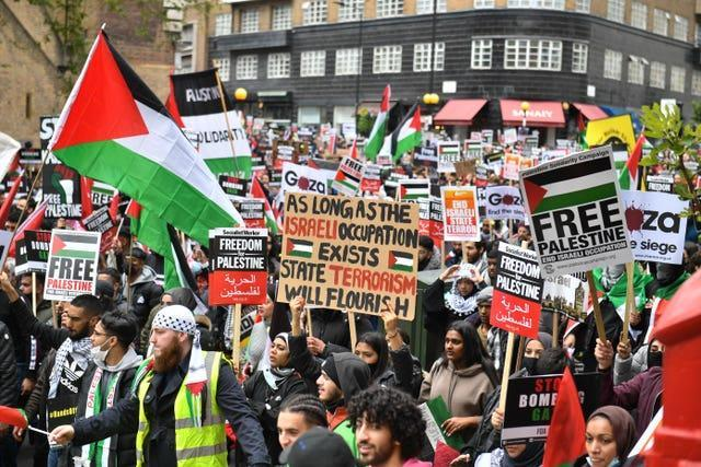 Palestine solidarity march