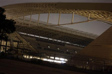 """A general view of the Arena Sao Paulo stadium, known as """"Arena Corinthians"""" and """"Itaquerao"""", in Sao Paulo March 29, 2014. REUTERS/Nacho Doce"""