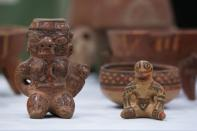 Pre-Columbian statues and pots, repatriated from the Brooklyn Museum in New York, U.S., are displayed for its classification by archaeologists at the facilities of the Costa Rica's National Museum, in Pavas