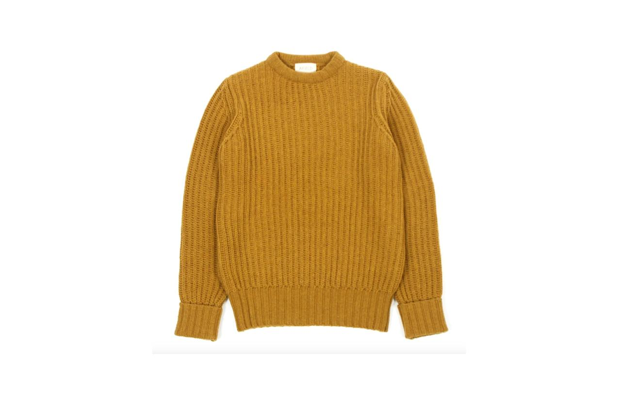 """$150, Huckberry. <a href=""""https://huckberry.com/store/far-afield/category/p/56811-tanner-ribbed-knit"""">Get it now!</a>"""