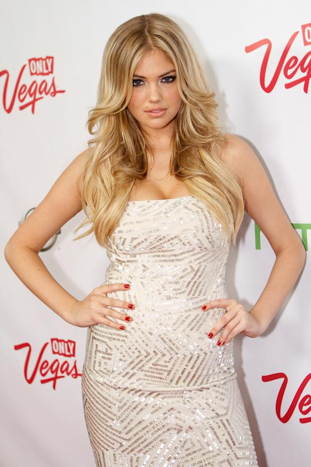 LAS VEGAS, NV - FEBRUARY 17:  Sports Illustrated swimsuit model Kate Upton arrives at Club SI Swimsuit hosted by Vanity at Vanity Nightclub at The Hard Rock Hotel and Casino on February 17, 2011 in Las Vegas, Nevada.  (Photo by Jacob Andrzejczak/Getty Images for Sports Illustrated)