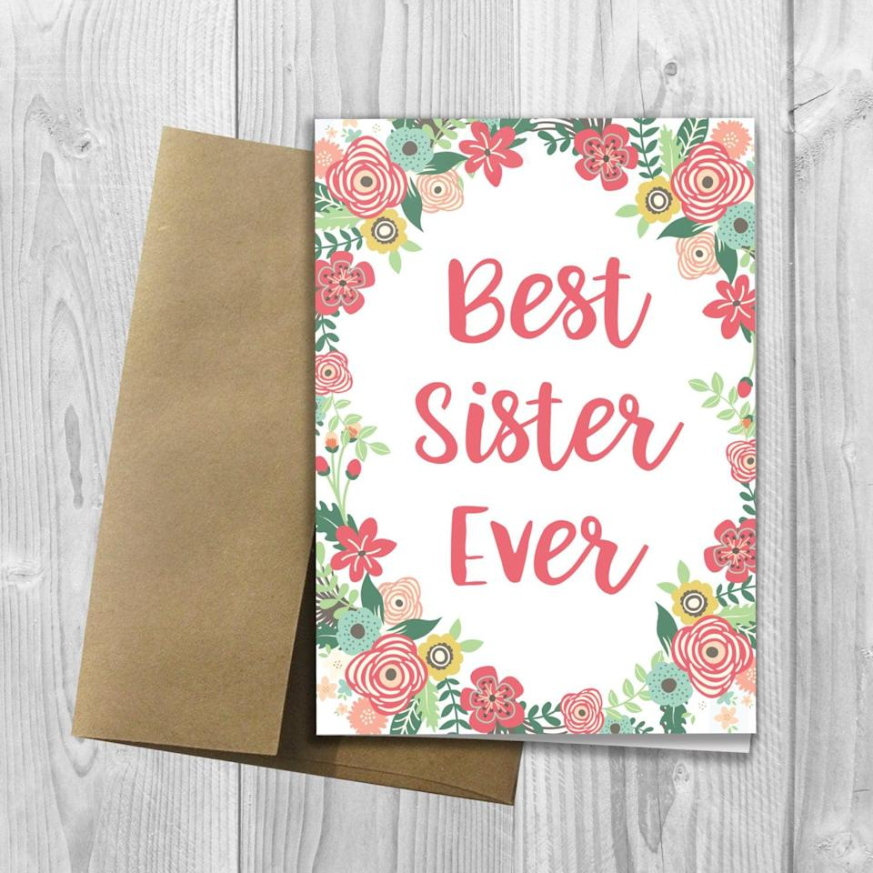 "<p><a href=""https://www.popsugar.com/buy/Best-Sister-Ever-Mother-Day-Card-316512?p_name=Best%20Sister%20Ever%20Mother%27s%20Day%20Card&retailer=etsy.com&pid=316512&price=4&evar1=moms%3Aus&evar9=44774025&evar98=https%3A%2F%2Fwww.popsugar.com%2Ffamily%2Fphoto-gallery%2F44774025%2Fimage%2F44774033%2FBest-Sister-Ever-Mothers-Day-Card&list1=sisters%2Cmotherhood%2Cmothers%20day&prop13=api&pdata=1"" class=""link rapid-noclick-resp"" rel=""nofollow noopener"" target=""_blank"" data-ylk=""slk:Best Sister Ever Mother's Day Card"">Best Sister Ever Mother's Day Card</a> ($4)</p>"