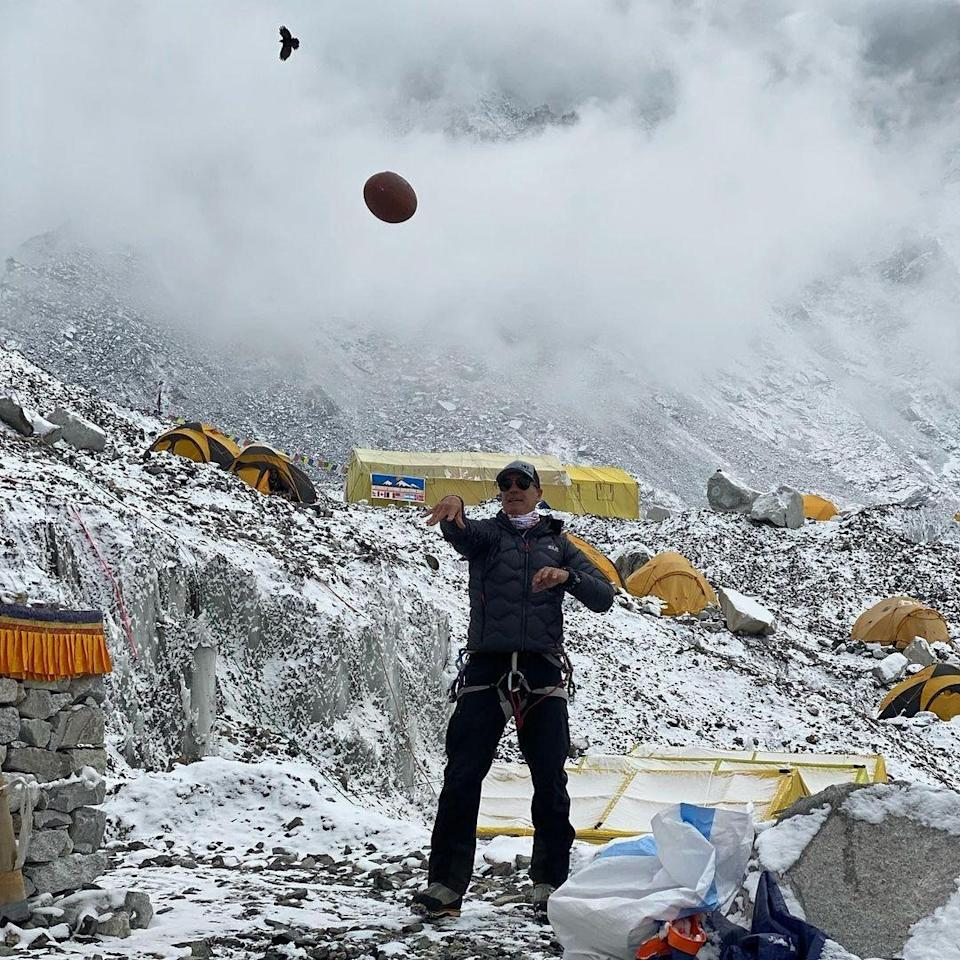 Photo from Mark Pattison's Instagram account. Pattison is a a former NFL player who is attempting to summit Everest.