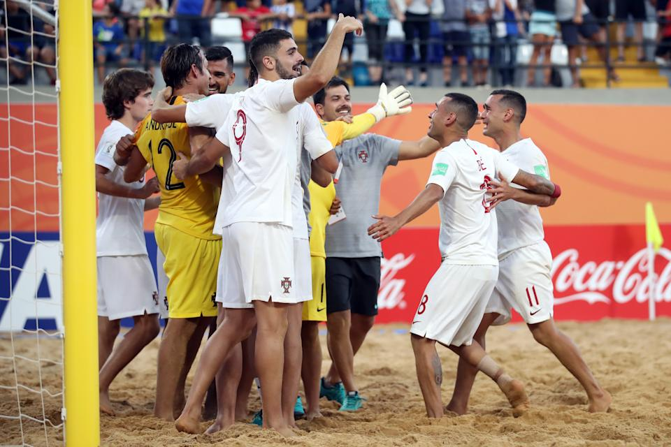 Il Portogallo vince la Coppa del Mondo di Beach soccer battendo l'Italia per 6-4.(Photo by Alex Grimm - FIFA/FIFA via Getty Images)