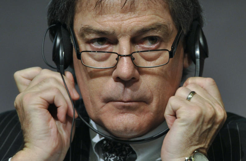Director General of the World Anti-Doping Agency (WADA) David Howman listens to questions during a press conference at the European Union Sports Forum in Budapest, Hungary, Tuesday, Feb. 22, 2011. (AP Photo/Bela Szandelszky)