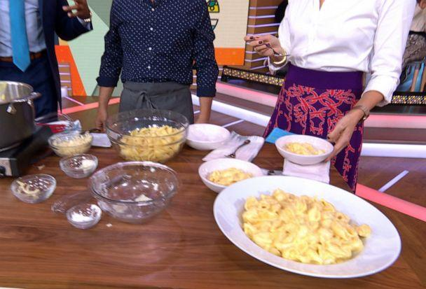 PHOTO: Chef Michael Symon's decadent stove top mac and cheese for 'Good Morning America,' Nov. 8, 2019. (ABC News)