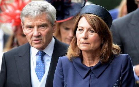 The Duchess's parents, Carole and Michael Middleton, arrive for the ceremony - Credit: Mark Stewart Photography