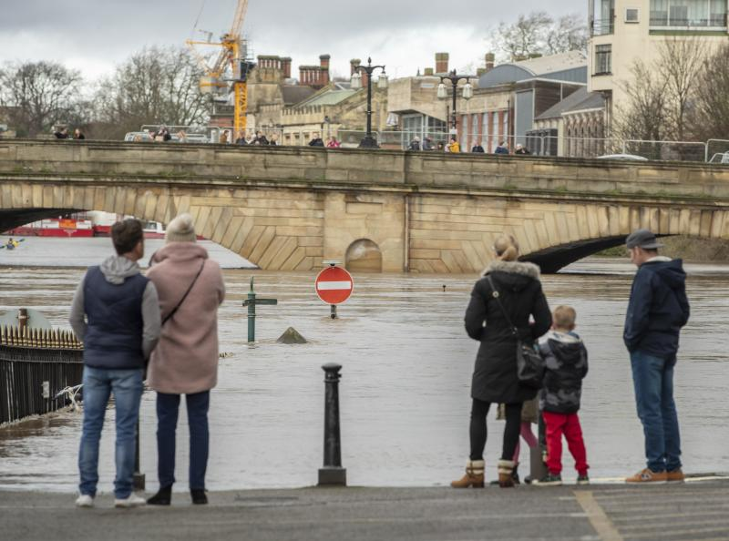 Flooding in York after the River Ouse burst its banks, as a third consecutive weekend of stormy weather is bringing further flooding misery to already sodden communities.