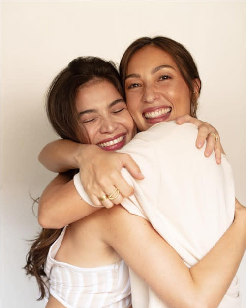 Sisters-in-law Anne and Solenn launched their babywear brand Tili Dahli in June