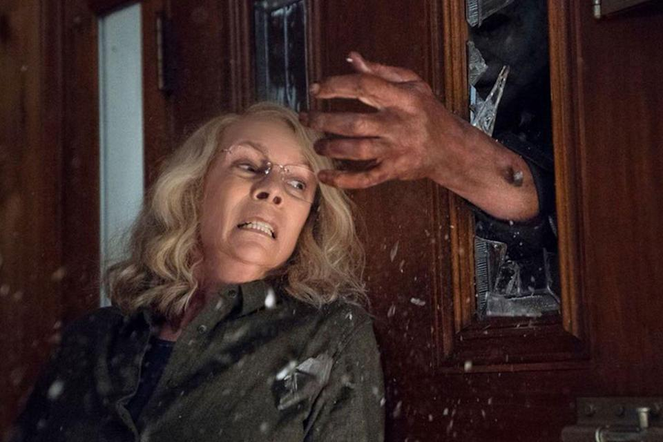 """<p>Legendary scream queen Jamie Lee Curtis <a href=""""https://www.countryliving.com/life/entertainment/g23273668/halloween-movies-in-theaters/"""" rel=""""nofollow noopener"""" target=""""_blank"""" data-ylk=""""slk:returns to the big screen"""" class=""""link rapid-noclick-resp"""">returns to the big screen</a> as Laurie Strode to face off against Michael Myers once again. The new <em>Halloween</em> movie is a direct sequel to the original 1978 film, ignoring every other chapter in the franchise that has been released since.</p>"""