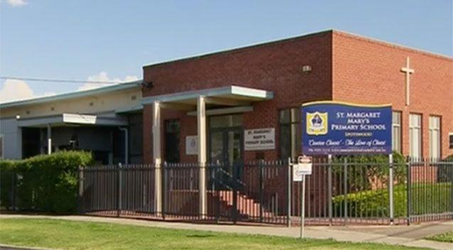 The boy's mother dropped the boy and his siblings off at the school gates, but he snuck back into the car and hid. Picture: 7 News