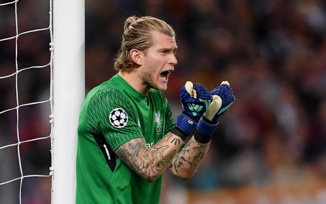 <p>Soccer Football – Champions League Semi Final Second Leg – AS Roma v Liverpool – Stadio Olimpico, Rome, Italy – May 2, 2018 Liverpool's Loris Karius reacts REUTERS/Alberto Lingria </p>