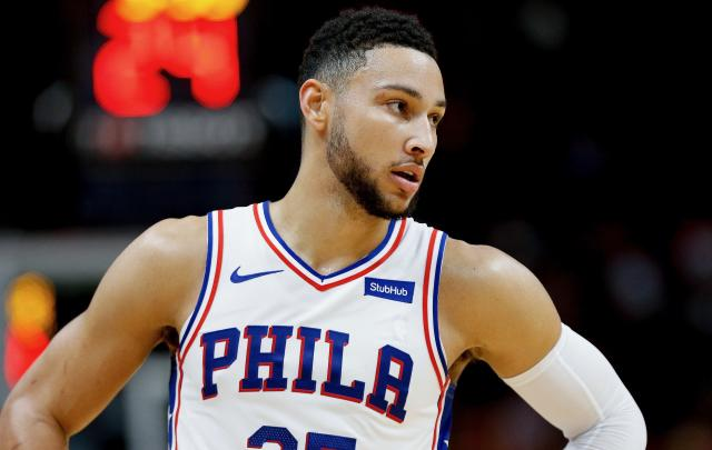 "<a class=""link rapid-noclick-resp"" href=""/nba/players/5600/"" data-ylk=""slk:Ben Simmons"">Ben Simmons</a> did not back down from a claim that he was denied entry to a casino, a claim the casino refuted on Tuesday. (Getty)"