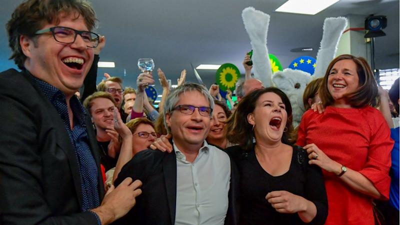 German Greens leap in EU vote as left bleeds support