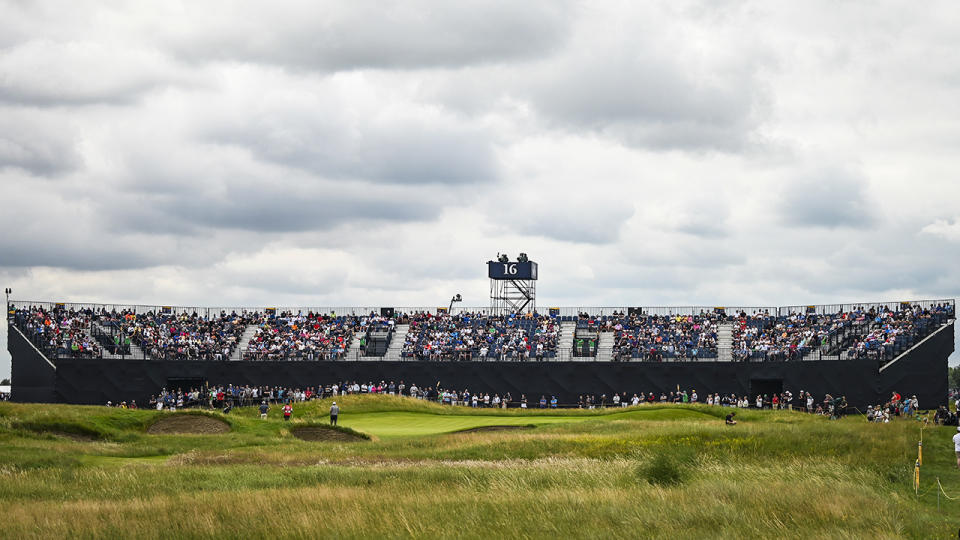 Tens of thousands of fans, pictured here at the 149th The Open Championship at Royal St Georges.