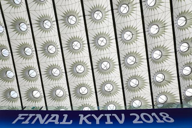 The NSC Olympic stadium is seen prior to the final match between Real Madrid and Liverpool in Kiev, Ukraine May 25, 2018. REUTERS/Pawel Kopczynski