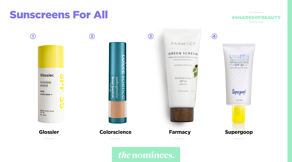 <p>Glossier, Colorscience, Farmacy, and Supergoop. (Art by Quinn Lemmers for Yahoo Lifestyle) </p>