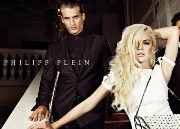 Celebrity advertising campaigns: Lindsay Lohan looked effortlessly glam posing for Philipp Plein and we've seen that hand-behind-head sexy move on many a celeb!