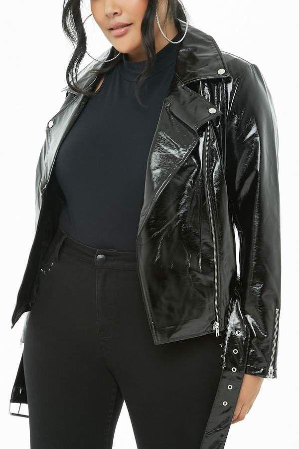 "<p>No one can resist the appeal of a killer moto jacket, especially a dressed-up patent leather one. Wear it with a matching patent leather skirt and heels or over your favorite loungewear set.<br><a href=""https://fave.co/2QWqaXa"" rel=""nofollow noopener"" target=""_blank"" data-ylk=""slk:Shop it:"" class=""link rapid-noclick-resp""><strong>Shop it:</strong> </a>Forever 21 Faux-Patent-Leather Moto Jacket, $45, <a href=""https://fave.co/2QWqaXa"" rel=""nofollow noopener"" target=""_blank"" data-ylk=""slk:forever21.com"" class=""link rapid-noclick-resp"">forever21.com</a> </p>"