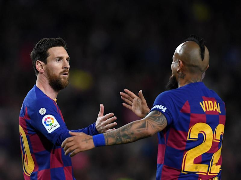Lionel Messi and Arturo Vidal might not be Barcelona team-mates for much longer: Getty Images