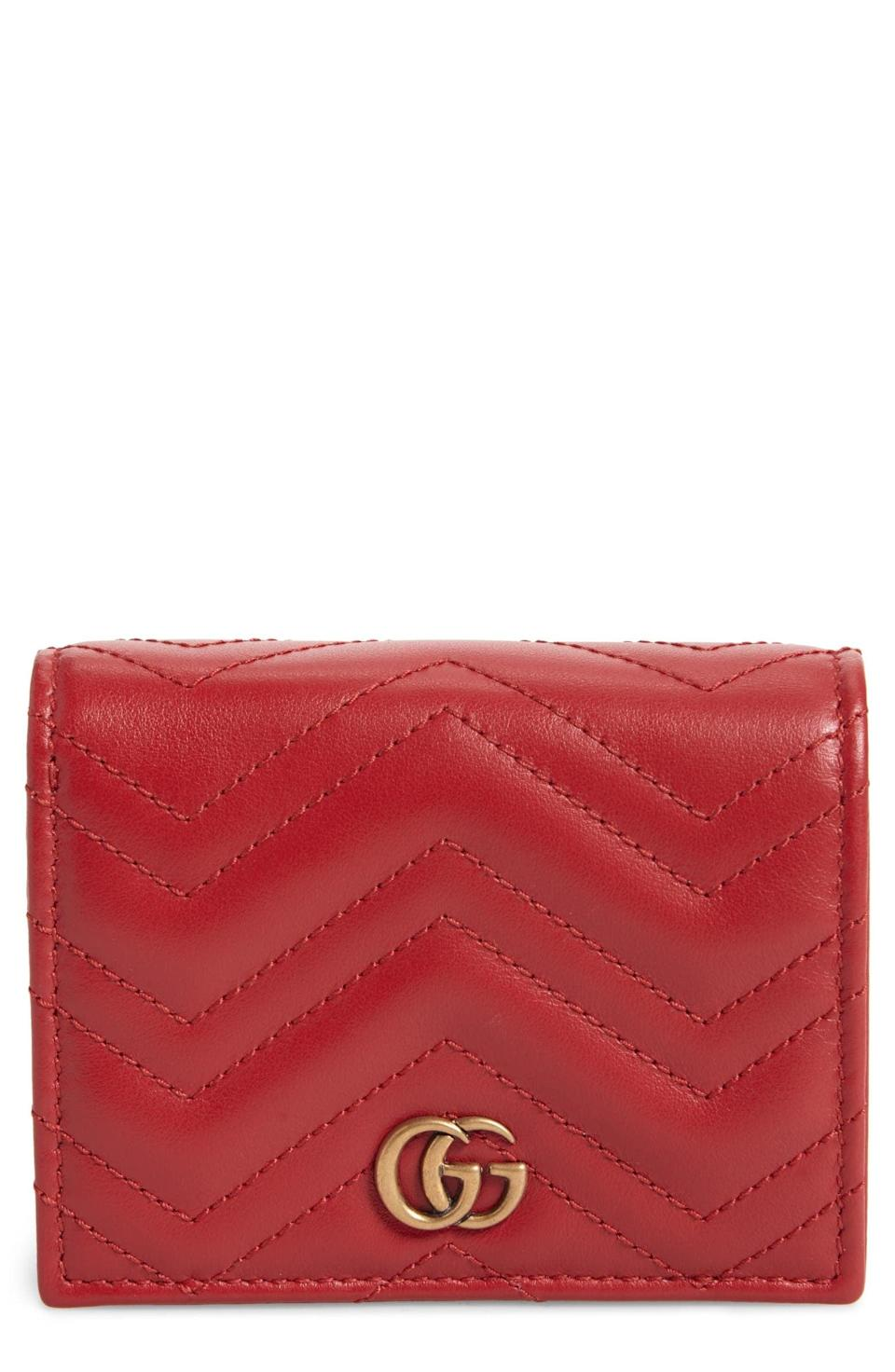 <p>This <span>GG 2.0 Matelassé Leather Card Case</span> ($650) will keep all your essentials safe.</p>