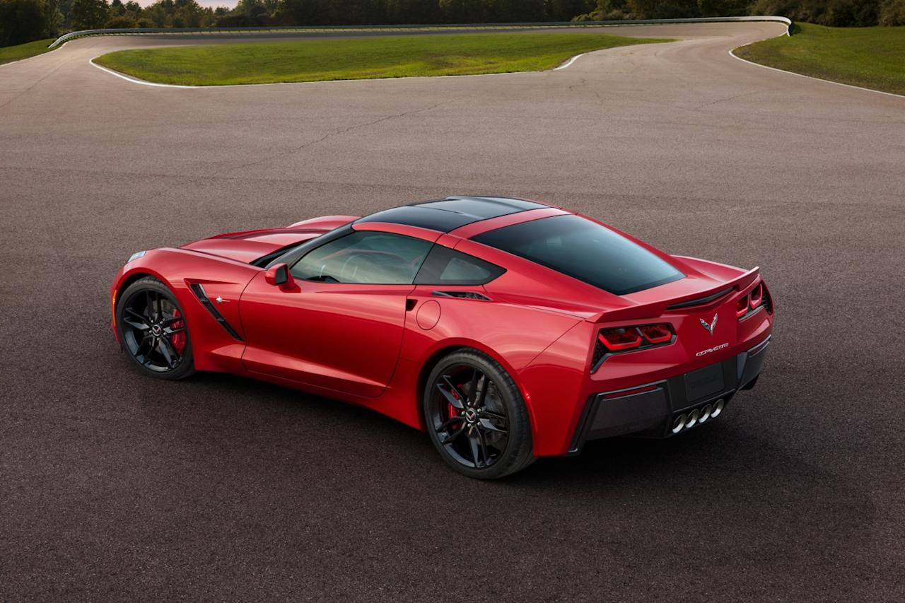 Rear of the new Corvette Stingray