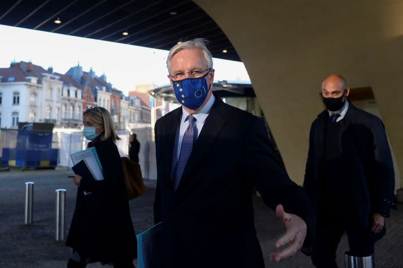 European Union's chief Brexit negotiator Michel Barnier arrives at the European Council for a meeting in Brussels