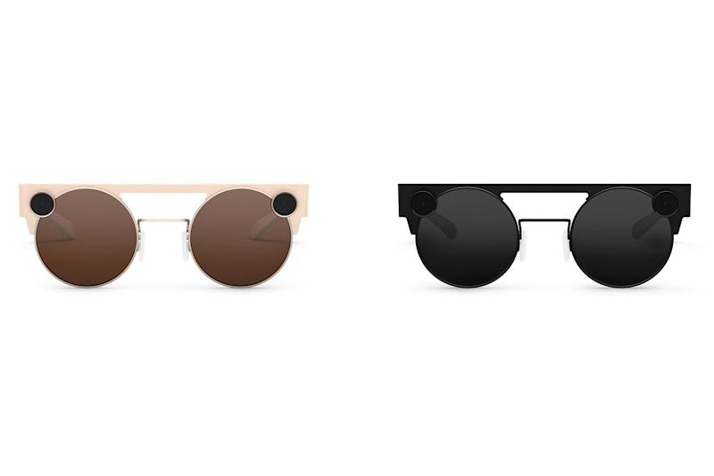 The new Spectacles 3 are available in black and a gold-type design (Snap)