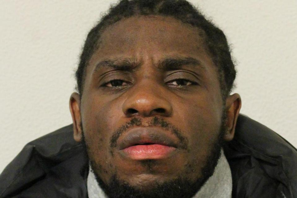 Nsimba Malungo was jailed for three years after driving his car at and injuring a police officer in Ilford