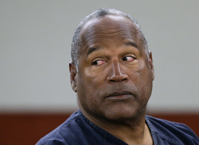 O.J. Simpson is suing a Las Vegas hotel for defamation from a TMZ story. (AP Photo/Julie Jacobson, Pool, File)