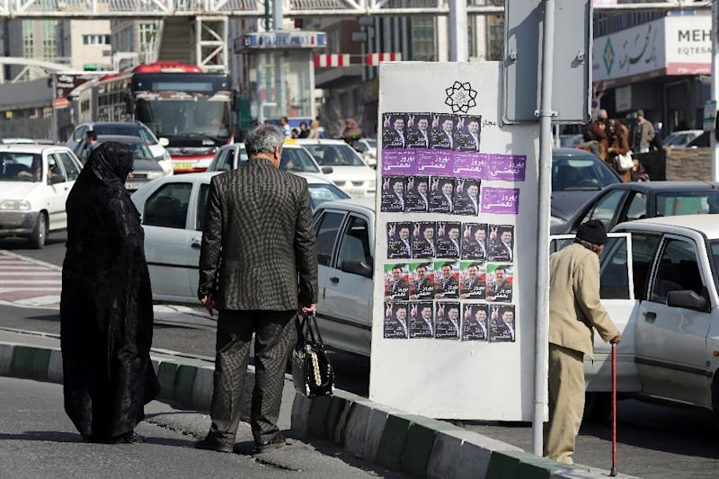 A million people will be mobilised to organise and run the Iranian elections on February 26 (AFP Photo/Atta Kenare)