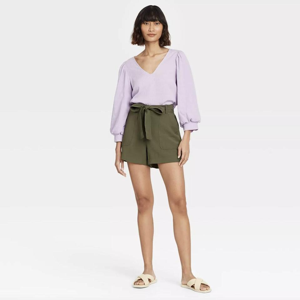 <p>These <span>A New Day High-Rise Tie Waist Shorts</span> ($20) will turn any top into an elevated look.</p>