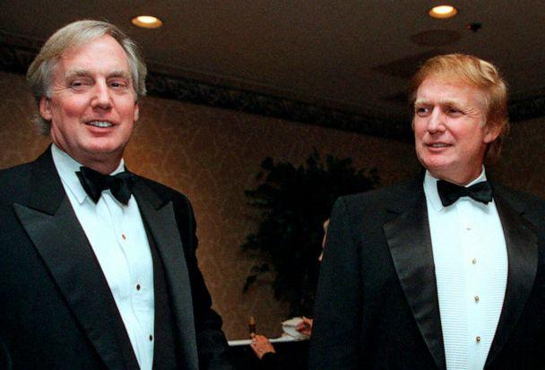PHOTO: In this Nov. 3, 1999 file photo, Robert Trump, left, joins then real estate developer and presidential hopeful Donald Trump at an event in New York. (Diane Bondaress/AP, File)