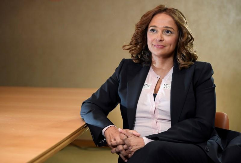 FILE PHOTO: Isabel Dos Santos, daughter of Angola's former President, sits for a portrait during a Reuters interview in London, Britain
