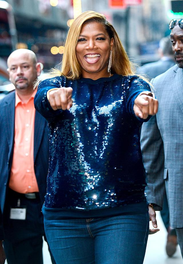 <p>The <i>Girls Trip</i> star was looking good as she left <i>Good Morning America</i>'s studios in New York's Times Square. Her new road-trip comedy, co-starring Jada Pinkett Smith, is receiving rave reviews. (Photo: Ray Tamarra/GC Images) </p>
